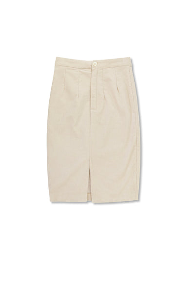 Pencil Skirt Short Corduroy