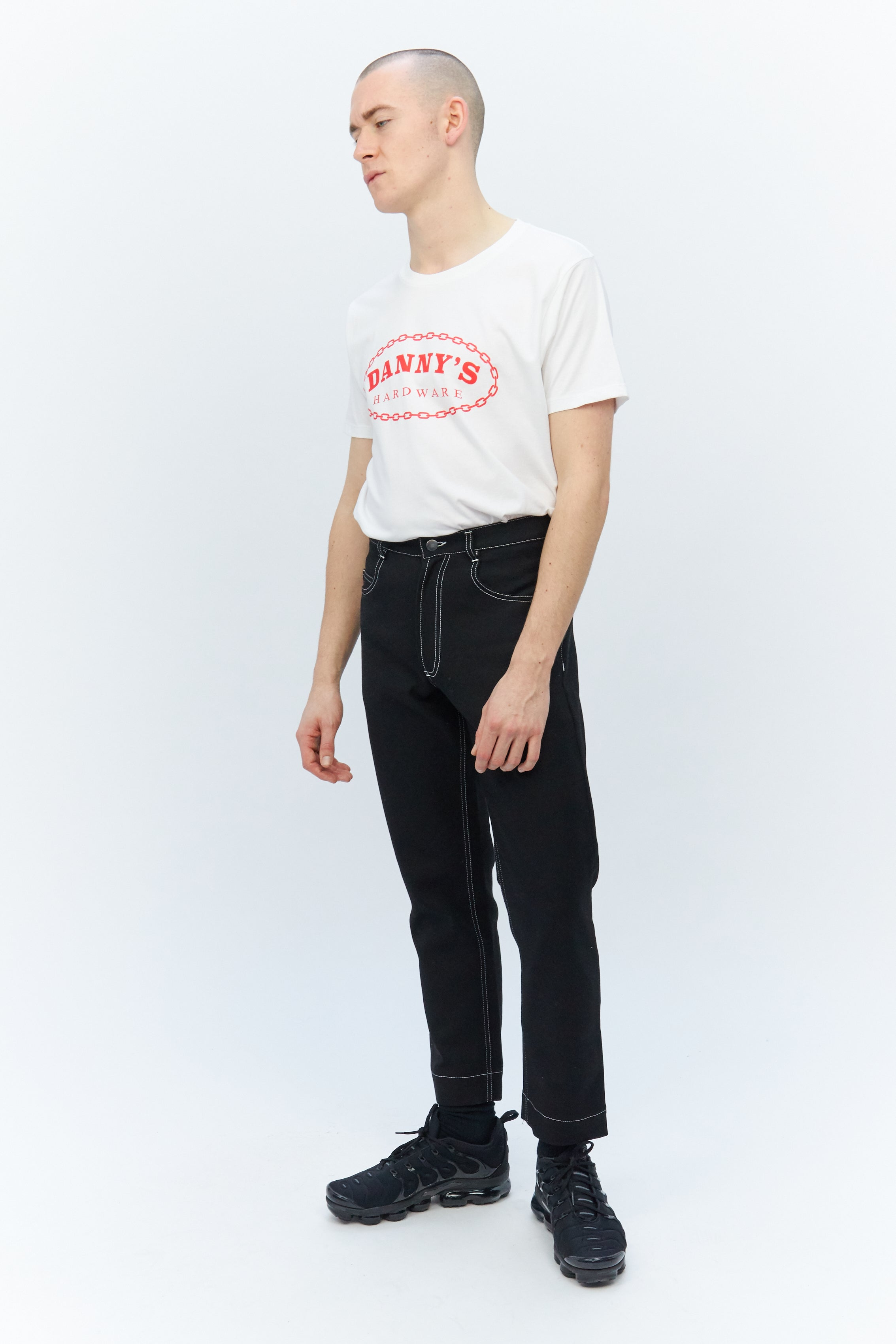 Contrast Stitch Jeans Black