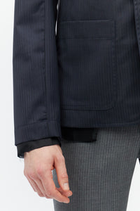 Navy Tailored Lining Jacket