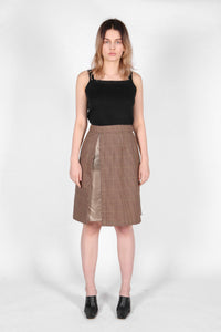 Panel Skirt Tobacco Check-50m London