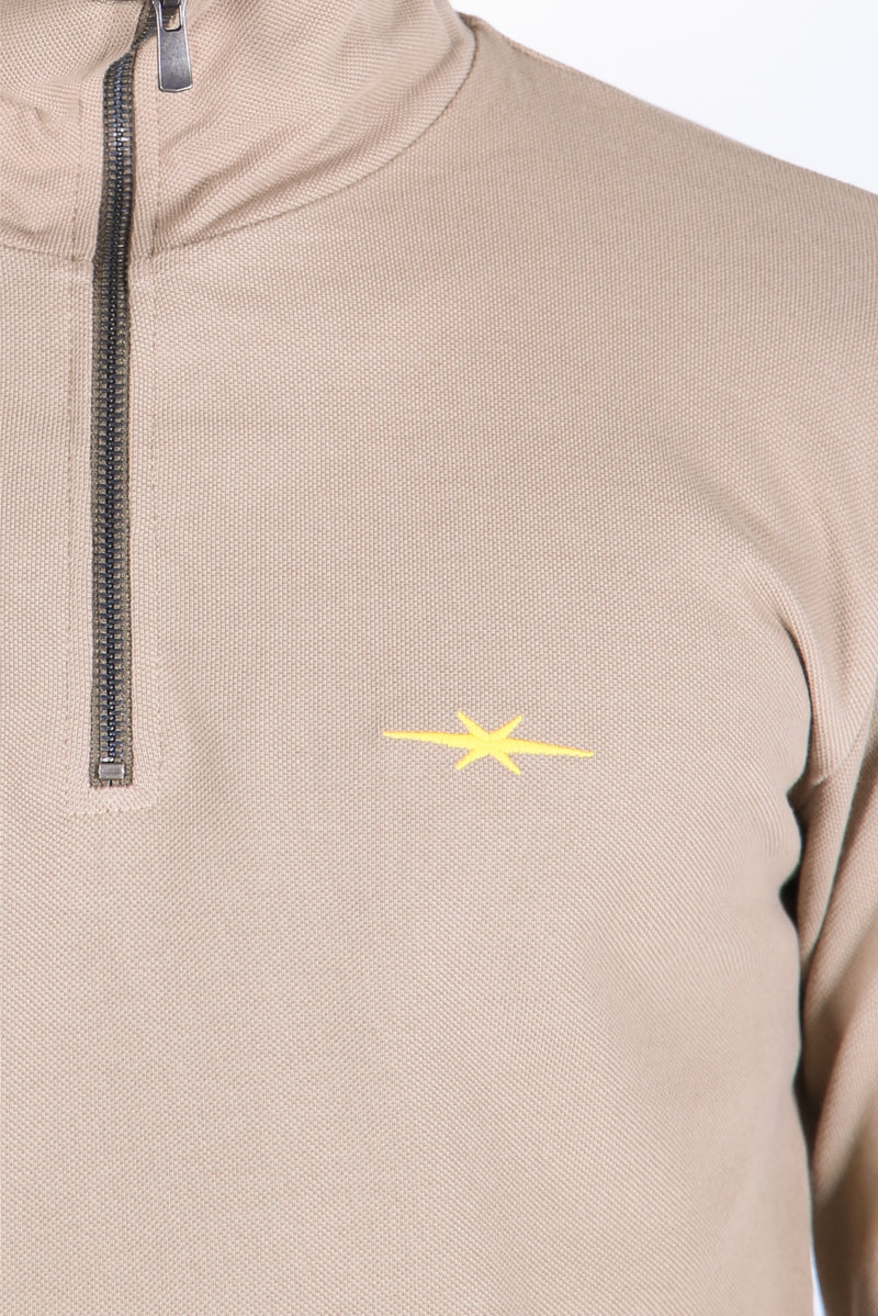 Half Zip Base Layer Ranger Tan