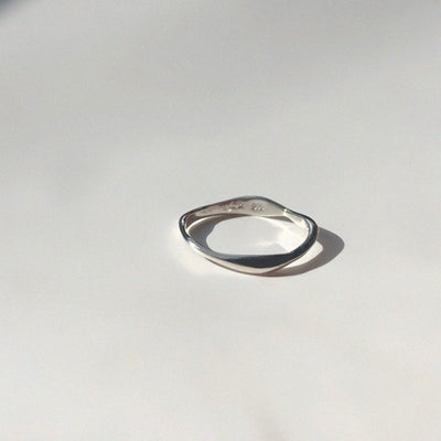 Ripple Ring Silver-50m London