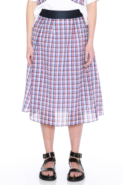 Texured Check Skirt