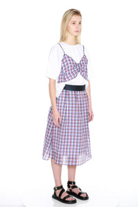 Texured Check Skirt-50m London