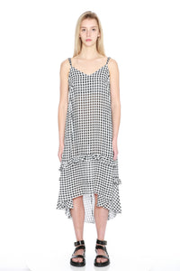 Gingham Slip Dress-50m London