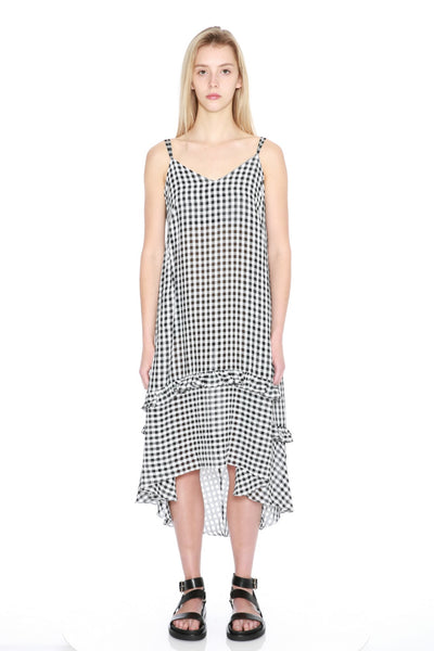 Gingham Slip Dress
