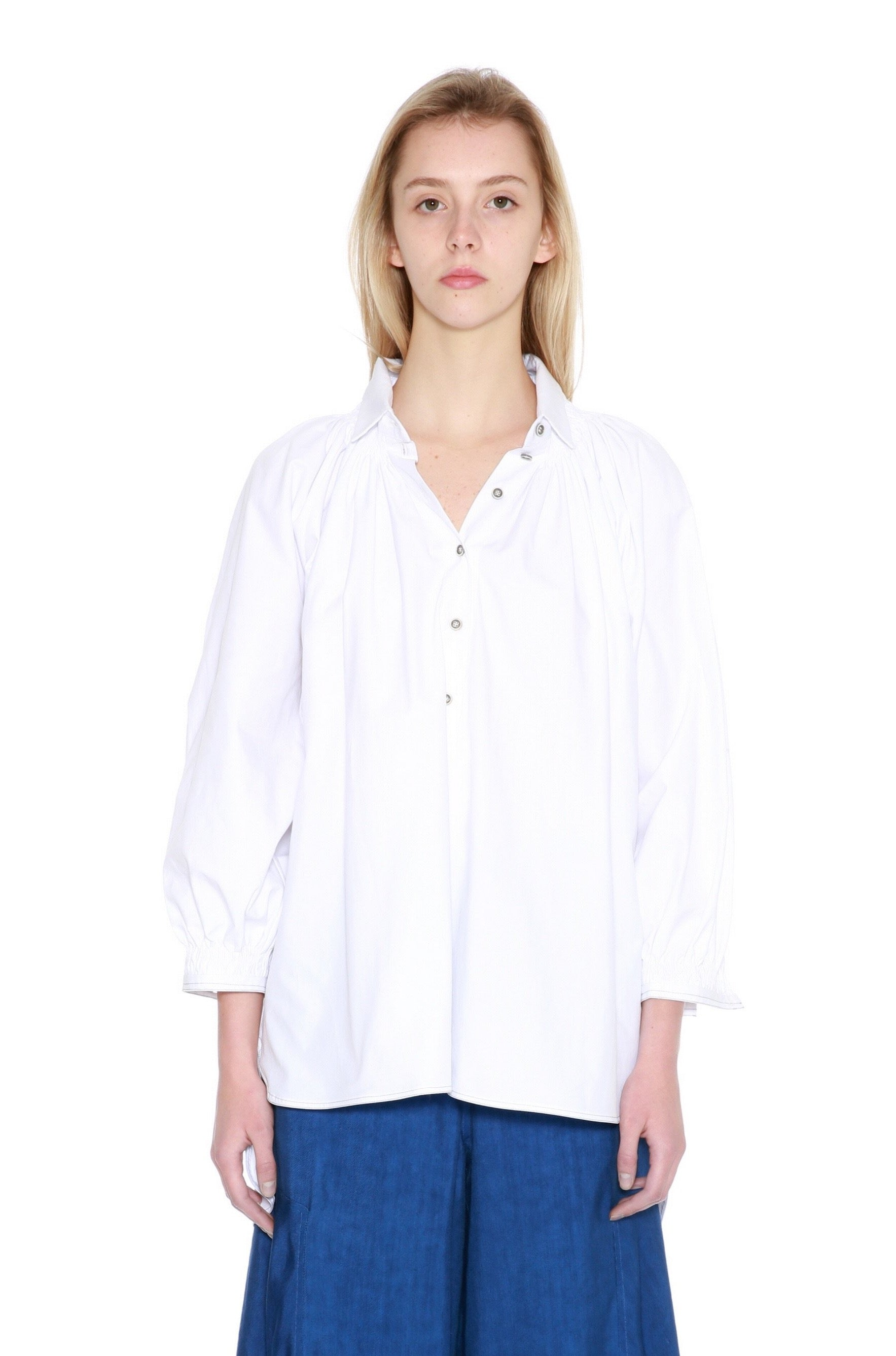 Cotton Smock Neck Shirt-50m London