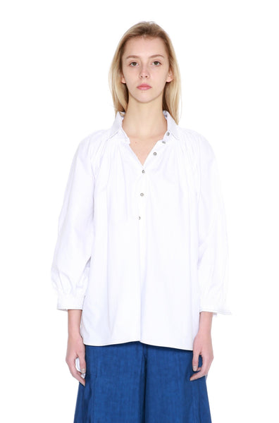 Cotton Smock Neck Shirt