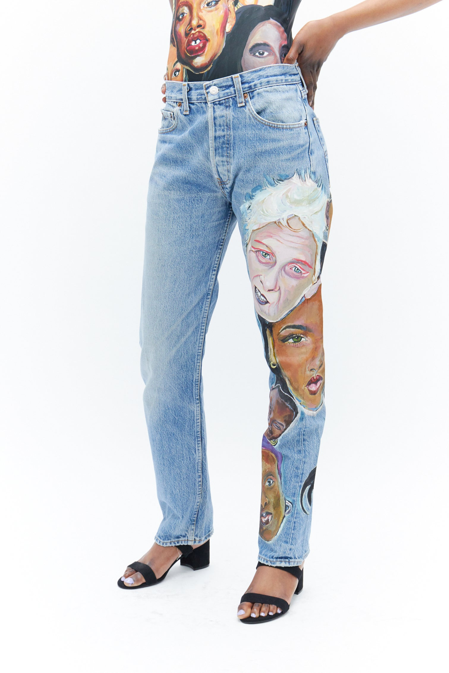 Hand Painted Jeans-50m London