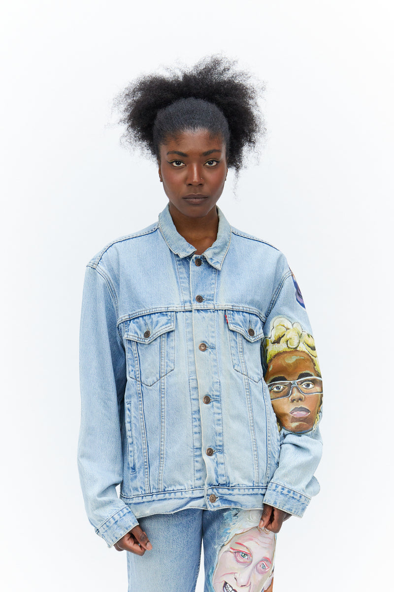 Hand Painted Denim Jacket-50m London