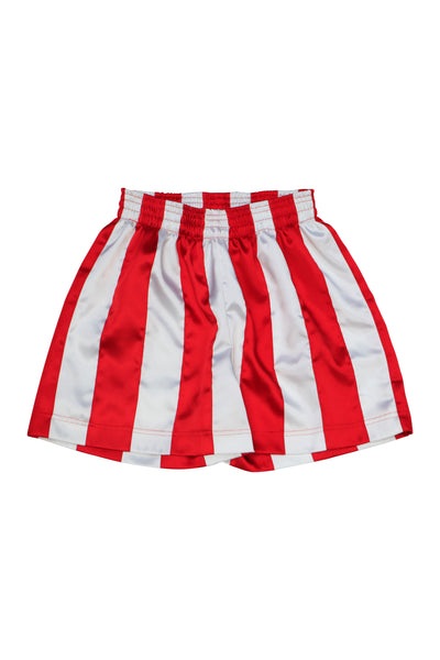 Red/White Ribbon Stripe Shorts
