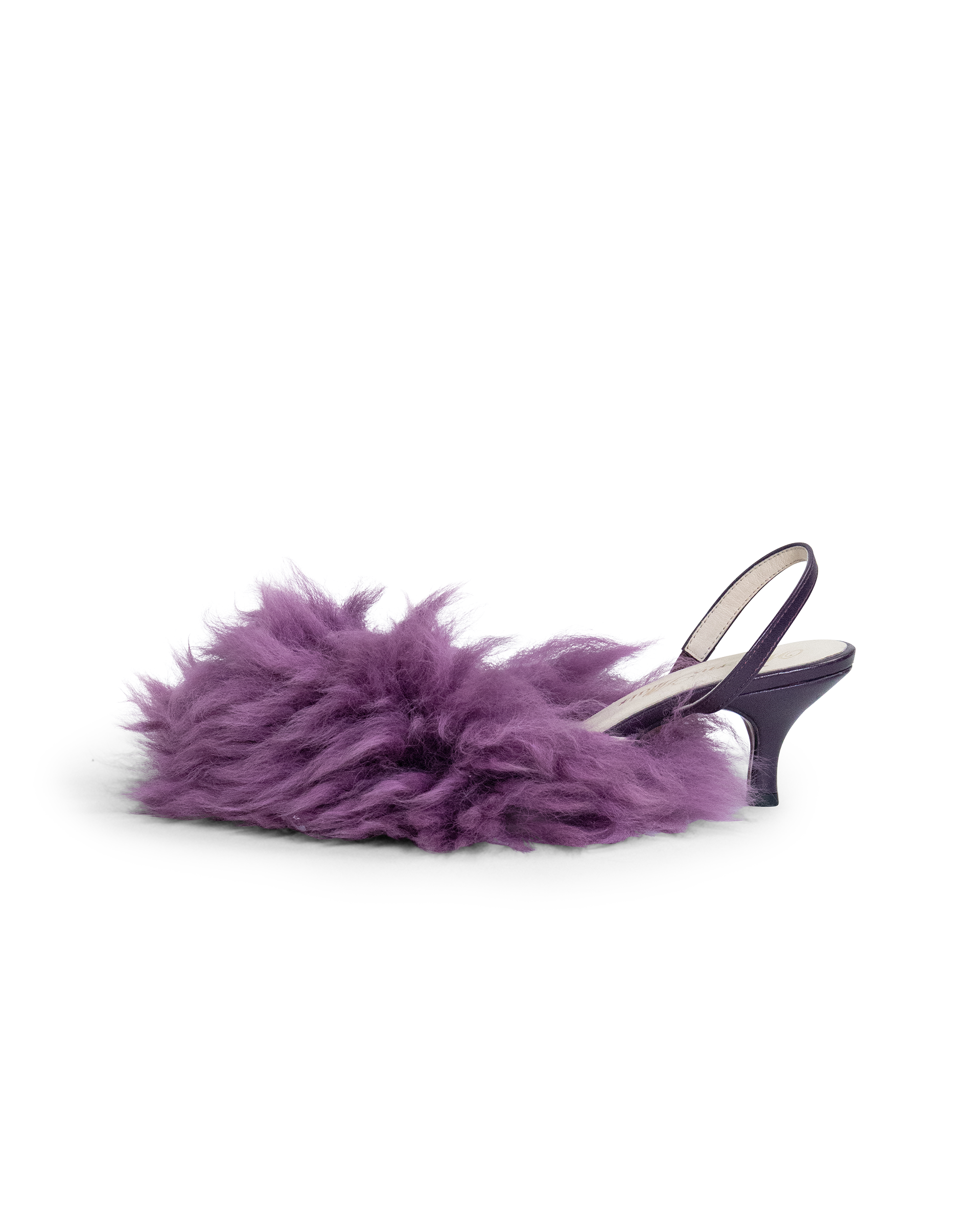 Sheep Heels in Dark Purple EU39