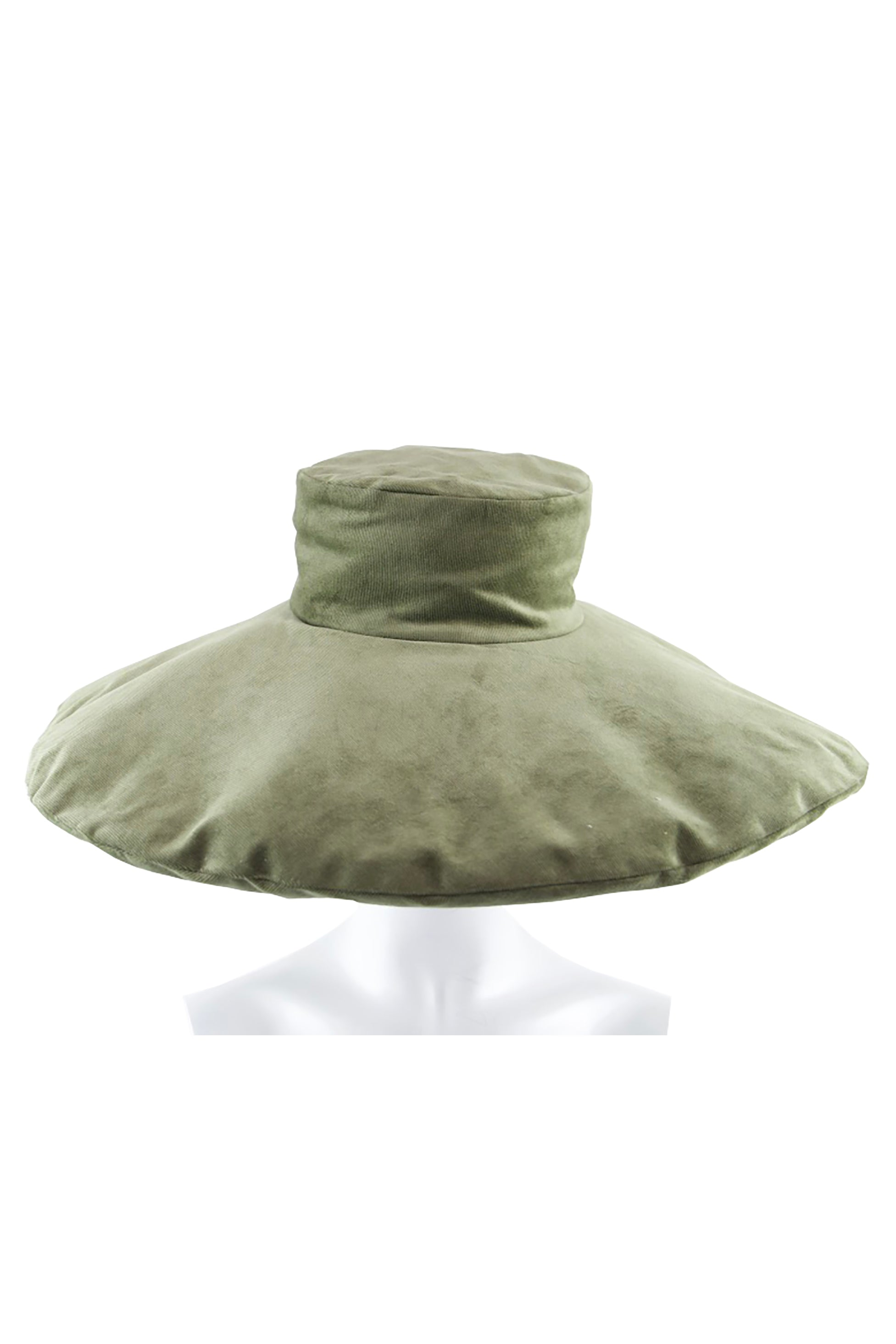 Pillow Hat Green Corduroy