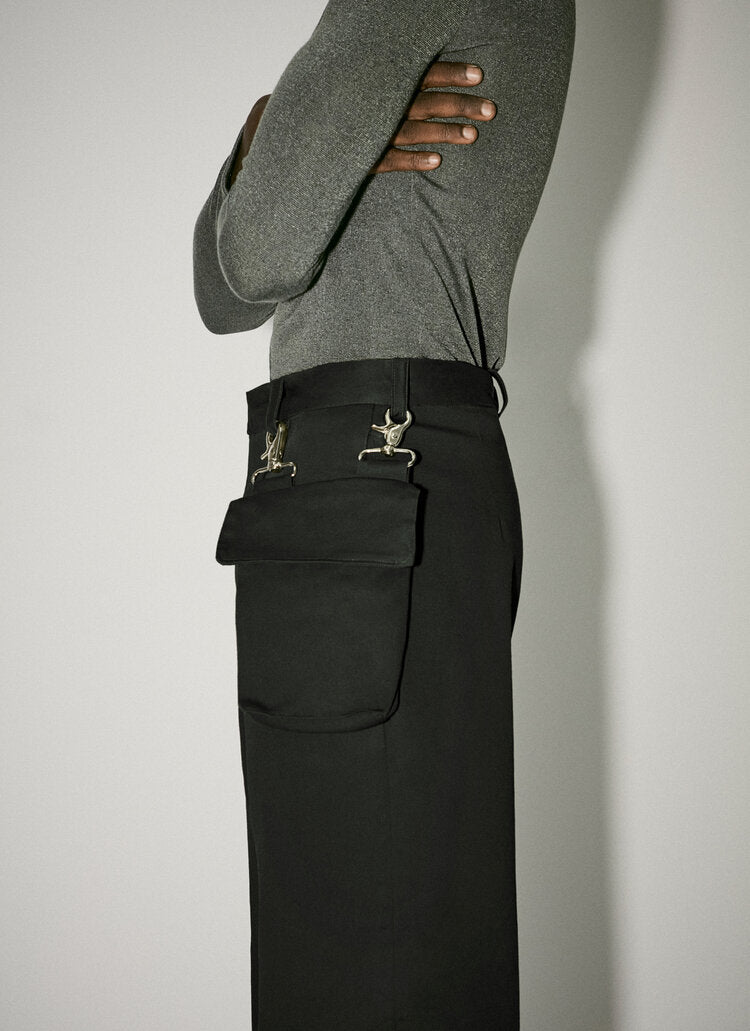 Trousers With Detachable Pocket Black-50m London