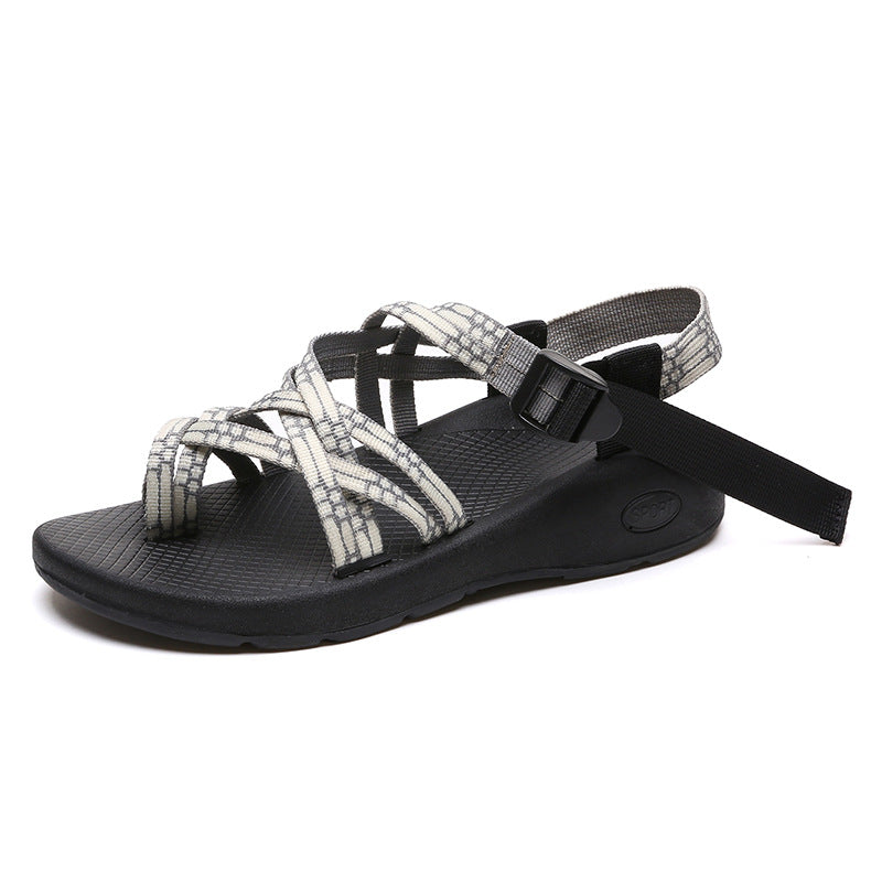 a4cfc66b5bbf1 Women PU Sandals Casual Comfort Chunky Heel Roman Belt Buckles Shoes ...