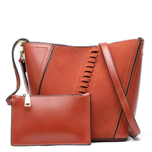 2019 vintage brown women pu leather handbags luxury designer shoulder bags high quality brand crossbody bags for women bags NEW