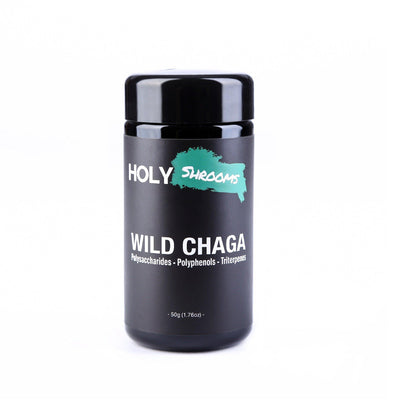 Wild Chaga extracted powder - Holy Shrooms - Medicinal Mushrooms