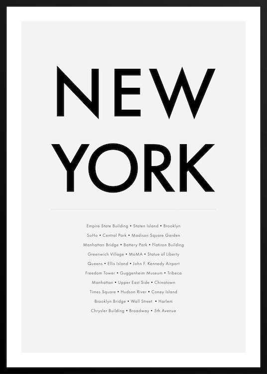 NEW YORK HIGHLIGHTS poster with frame | Photographs | Funqle.com