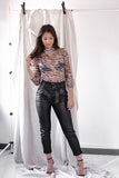 Eva Leather Look Trousers