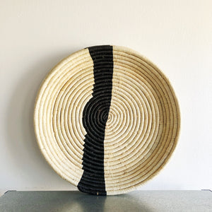 Striped Raffia Tray