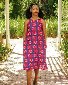 Qhawekazi Pink Sleeveless Dress