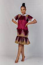 Load image into Gallery viewer, Qhawekazi Mpume Collar Dress