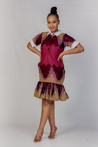 Qhawekazi Mpume Collar Dress
