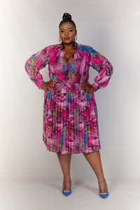 Qhawekazi Pleated Dress