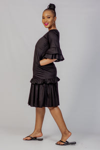 Qhawekazi Slie Cotton Black Dress