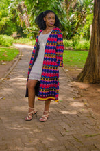 Load image into Gallery viewer, Qhawekazi Multi Colour Kimono with Sleeves