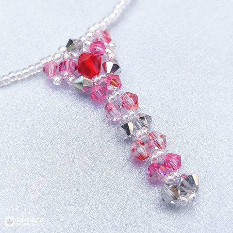 Collier Crystal rosé