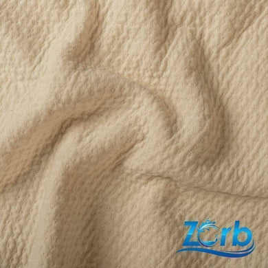 "Zorb® 3D Organic Cotton Dimple Fabric in Natural ""Fat Quarter"" 