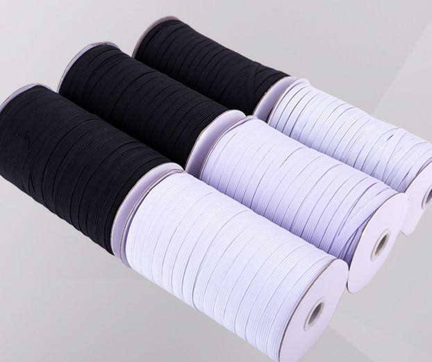 15mm Corded Elastic - Black - High Quality