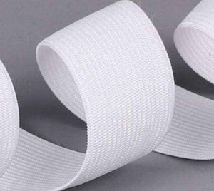 15mm Corded Elastic - White - High Quality | Ab Fab Textiles
