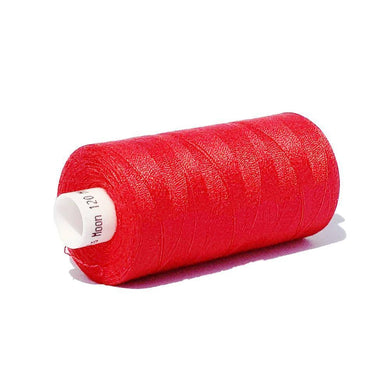 215 Bright Red - Coats Moon 1000yd Polyester Thread | Ab Fab Textiles