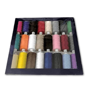 24x Standard Assorted - Coats Moon 1000yd Polyester Thread | Ab Fab Textiles