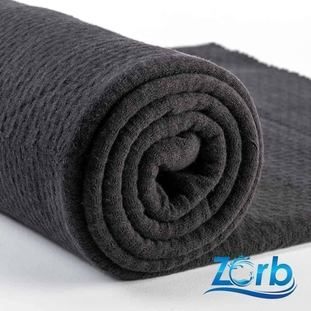 Zorb® 3D Organic Cotton Dimple Fabric in Black per Metre | Ab Fab Textiles