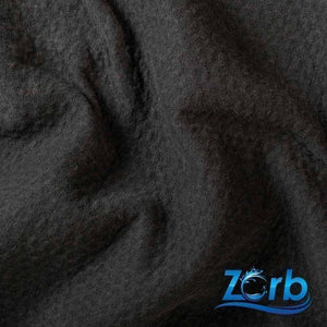 "Zorb® 3D Organic Cotton Dimple Fabric in Black""Fat Quarter"" 