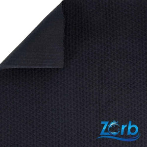 Zorb® 4D Organic Cotton Dimple Waterproof PUL Soaker Fabric (Black) per Metre | Ab Fab Textiles