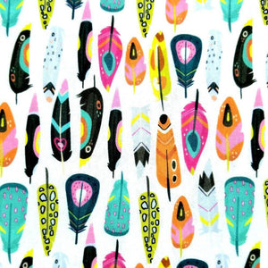 Abstract Feathers Cotton Print - Little Johnny - Extra Wide | Ab Fab Textiles