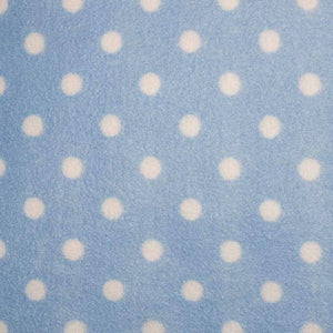 Baby Blue with White Dots Anti Pilling Polar Fleece - Ab Fab Textiles