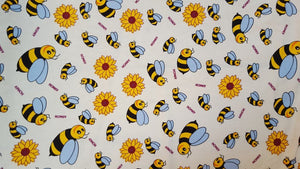 Bees on Cream Cotton Print