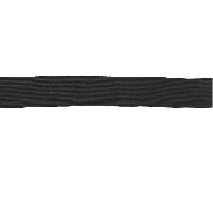 25mm Corded Elastic - Black - High Quality