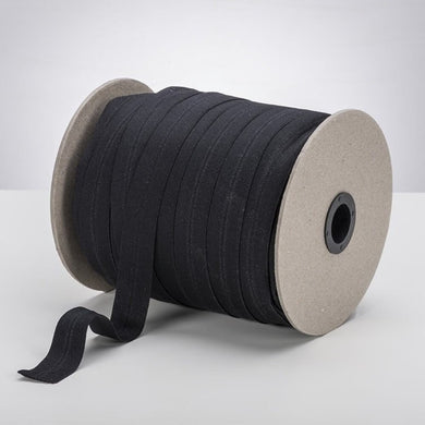 "Black 1"" ProStretch™ Plush Fold Over Elastic (FOE)"
