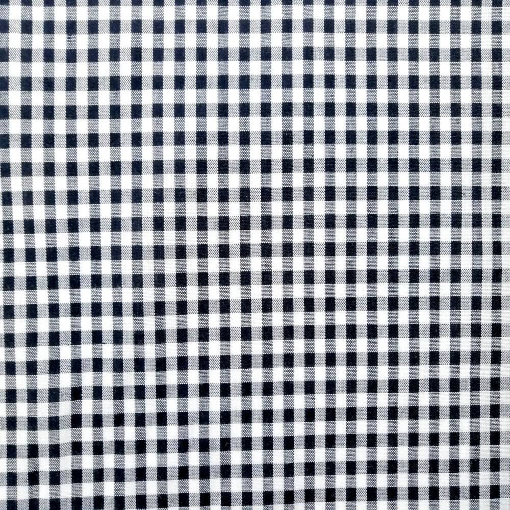 Black Gingham Check Cotton Print - Extra Wide | Ab Fab Textiles