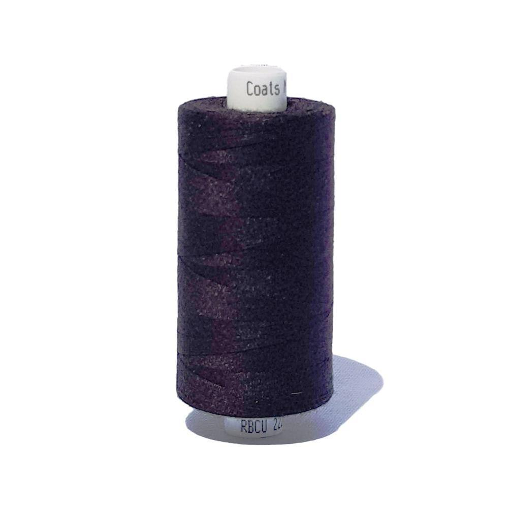 Black - Coats Moon 1000m Polyester Thread | Ab Fab Textiles