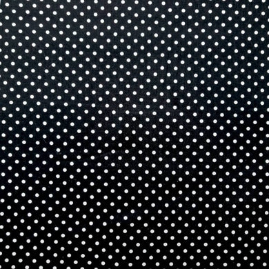 Black Pinspots Cotton Print | Ab Fab Textiles