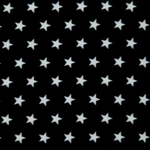 Black Stars Cotton Print - Extra Wide | Ab Fab Textiles