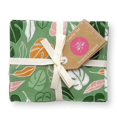 Botanical Elements Green Fat Quarter Bundle of 5 | Ab Fab Textiles
