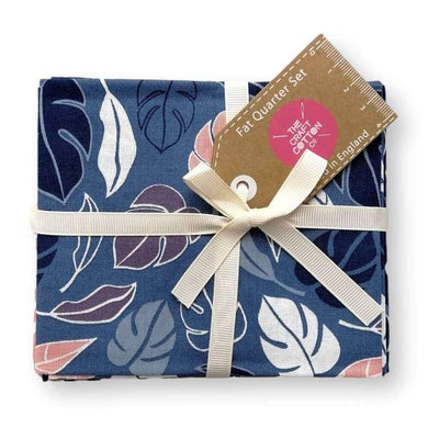 Botanical Elements Navy Fat Quarter Bundle of 5 | Ab Fab Textiles